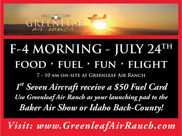 F4 Fly-In - join us before the Baker Air Show!